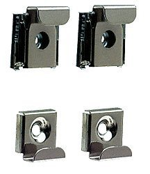 CRL Polished Chrome Plastic Lined Mirror Mounting Clips, 4 Clips Per Set ()