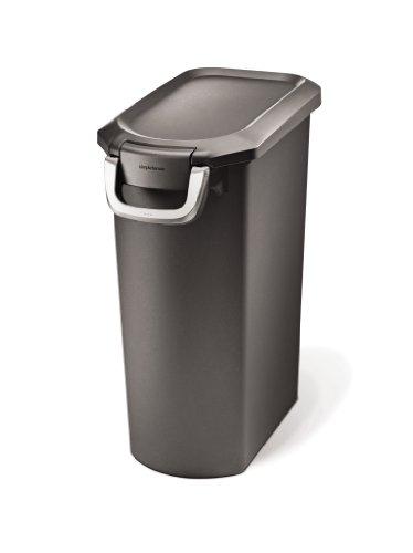 Simplehuman Pet Food Storage Can, Grey Plastic, 35 Liters/ 9 Gallons, My Pet Supplies