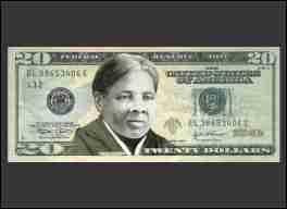 Harriet Tubman Twenty Dollar Bill Refrigerator Magnet (African American Magnet)