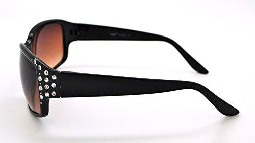 de Strass Lens soleil pour Black étui Frame microfibre haute Brown classique Vox tendance qualité gratuit Lunettes femme Mode Hot W Hav8q