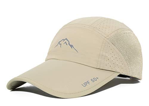(ELLEWIN Unisex Summer Baseball Cap UPF 50+ Sports Long Bill Hat for Big Head)