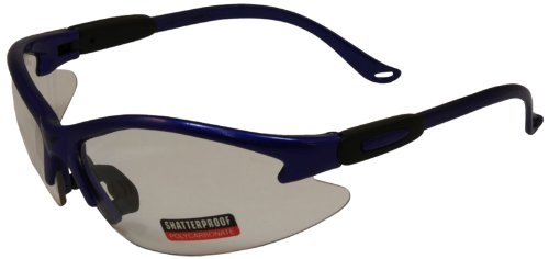 Global Vision Safety Shop Glasses (Blue Frame/Clear Lens)