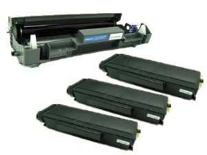 Awesometoner Compatible Brother DR-620 Drum Unit + 3 x TN-650 Toner Cartridges for Brother MFC 8480DN 8680DN 8890DW Brother HL 5340D 5370DW 5370DWT Brother DCP 8080DN 8085DN