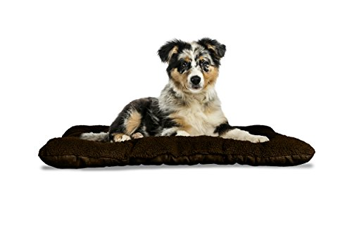 Furhaven Pet Kennel Pad | Reversible Terry and Suede Pet Tuf