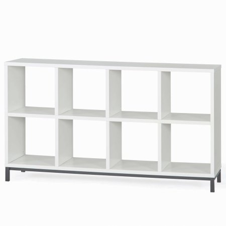 Better Homes and Gardens 8-Cube Organizer with Metal Base- White by Better Homes & Gardens