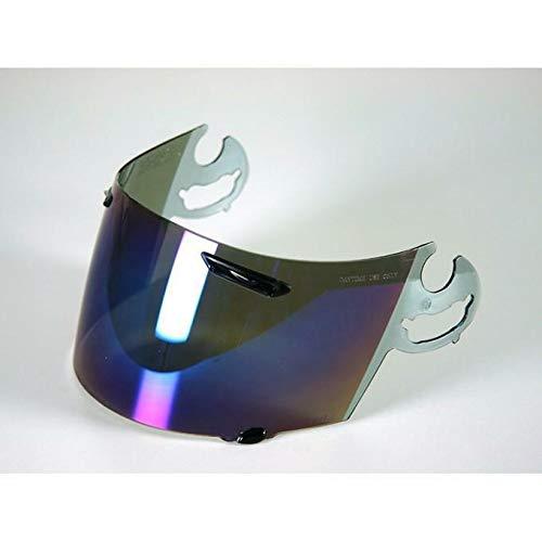 Blu Espejo Visera Para Casco Arai RR4 RX7 Corsair Viper Gt Chaser Astro J//R Condor Quantum S//E//F//J Rapide RX-7 Pantella Trasparente Espejo Iridium Oro Fume Aftermarket