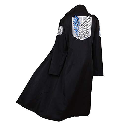 Japan Anime Shingeki No Kyojin Cloak Attack Titan Cosplay Cloth Black (Medium, Black for -