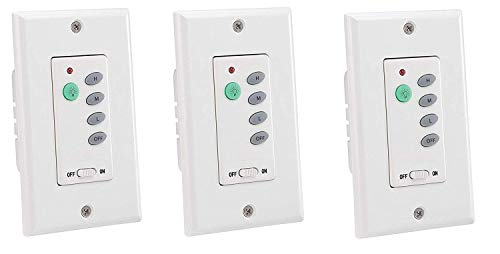 Westinghouse Lighting Westinghouse Wireless Ceiling Fan and Light Wall Control (3 Pack)