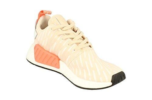 Adidas Originali Da Donna Nmd_r2 W Sneaker In Lino Bianco Ba7260