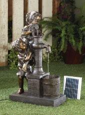 SKB Family Water Pump Solar Fountain Teamwork Children Fountains New solar-powered
