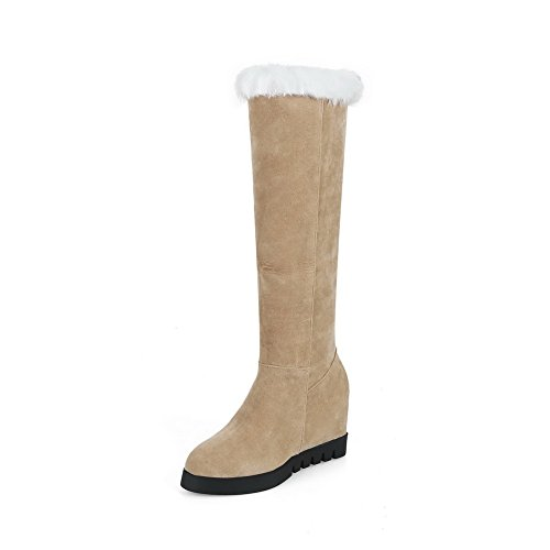 1TO9 Womens Boots High-Top No-Closure Warm Lining Chukka Dress Closed-Toe Cushioning Urethane Boots MNS02493 Beige cnfORc7pm