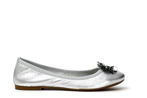 Paillettes Ballerina Laminata Kef411204410 Di Cafènoir 204 Fiore Con Argento Pelle In 41 xPxaBq0I
