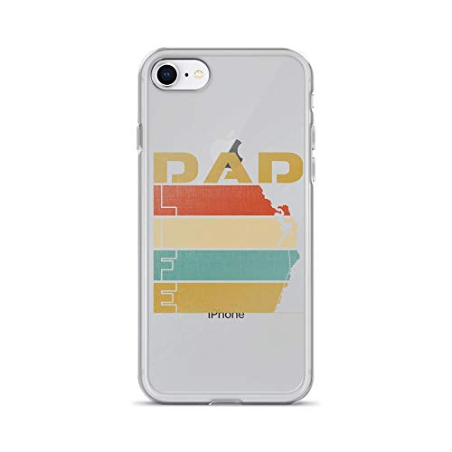(iPhone 7/8 Pure Clear Case Cases Cover Rock Climbing Dad Life Vintage TPU Anti-Scratch Full Protective Cover)