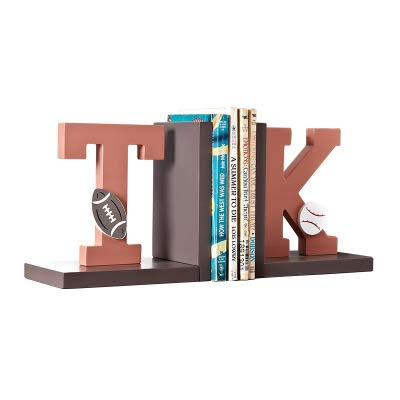 Wood Sailboat/Letters/Rainbow/Star Bookend Nursery Room Kids Room Decorative Book Rack Baby Kids Gift Idea (T&K)