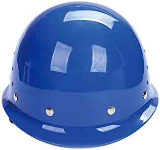 LCSHAN 高強度ABSヘルメット工事現場換気工学キャップ (Color : Blue)