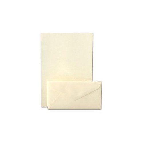Crane & Co. Pearl White Kid Finish Monarch Sheets And Envelope (CS7111) ()