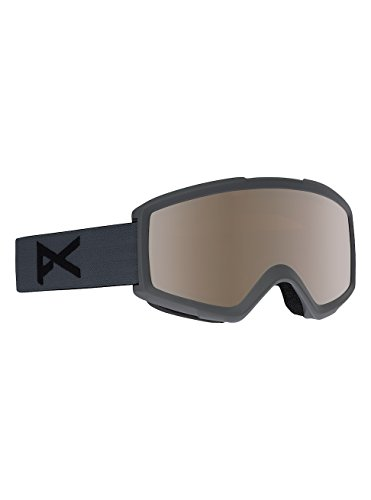 Anon Helix 2.0 w Spare Lens Snow Goggles One Size Stealth ~ Silver Amber