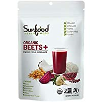 Sunfood Superfoods Beets & Mushrooms Blend (Beets+) Plant-Based Powder Drink Mix...
