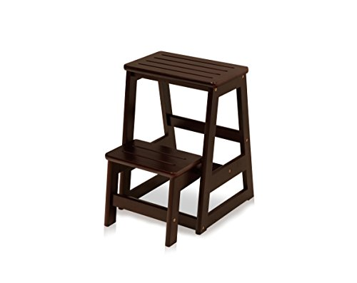 Price comparison product image Bella Esprit Fold Out Compact Step Stool,  Espresso Finish