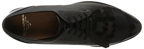 RepubliQ Nero Fringe Nero Donna Derby Royal Shoe Scarpe Prime Stringate P1wRO4