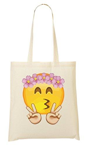 provisions Fourre Sac Emoji Flowers à Cute Smiley Peace tout Sac dIwIXz