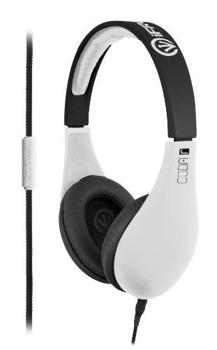 iFrogz IF-COD-WHT Coda Headphones with Mic, White
