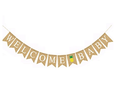 Welcome Baby Banner with Pineapple Home Decor for
