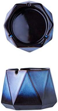 灰皿 , 磁器色灰皿中国のクリエイティブホームセラミック灰皿多機能 (色 : E, サイズ : 11*9cm)