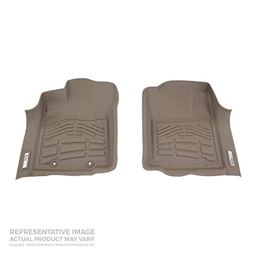 Westin Wade 72-130021 Tan Sure-Fit Front Right And Left Molded Floor Mat Set - 1 Pair