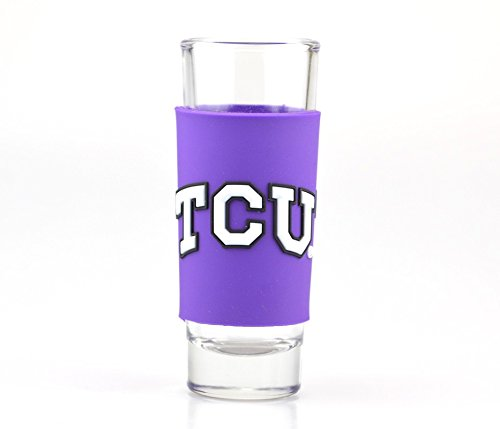 TCU HORNED FROGS 2oz. NCAA PVC WRAP COLLECTOR (SHOT) GLASS