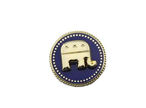 Republican Elephant Pin (hibadge US Presidential President Republican Elephant Lapel Pin)