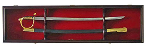 1-Sword-Display-Case-Cabinet-Stand-Holder-Wall-Rack-Shadow-Box-Lockable-w-98-UV-Protection