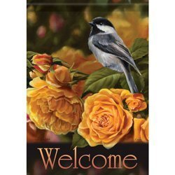 YusuiG Novelty Flag Trends 13 x 18 Garden Flags Many Options To Choose (Golden Song Bird) -