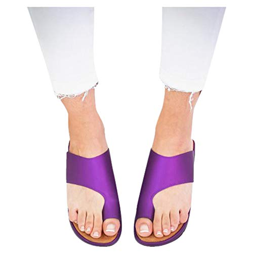 Platform Sandals for Women- 2019 New Comfort Flip Flops Wedge Shoes Flats Beach Casual Slippers (Purple, EU:38/US:6.5) -