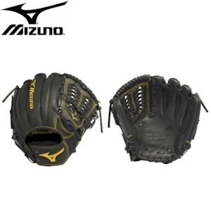 Mizuno GMP650BK Pro Limited Edition Right Handed Throw Baseball Fielders Mitt, Black, 11.50-Inch