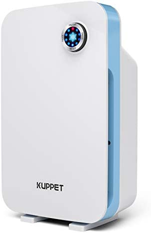 Air Purifiers for Home – Kuppet HEPA Filter Air Purifier, 3-Stage Filtration System Air Cleaner, Filters Allergies, Pollen, Smoke, Dust, Pets Hair, Filter Reminder & Timer, White