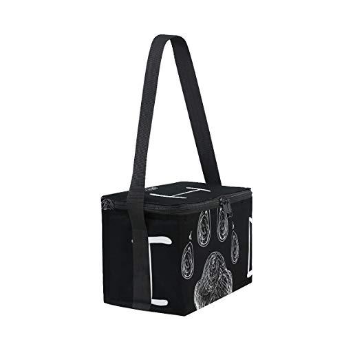 Borsa cane picnic impronta e design del tracolla pranzo animale per di con T7xwqfpTIr