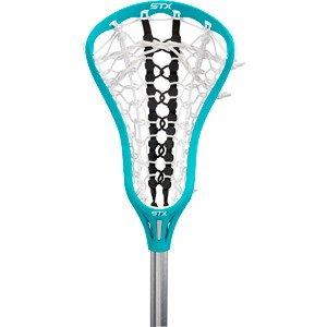 STX Lacrosse Women's EXULT 300 Complete Stick Teal Head and Black Runway Pocket on STX 7075 Handle by STX (Image #2)