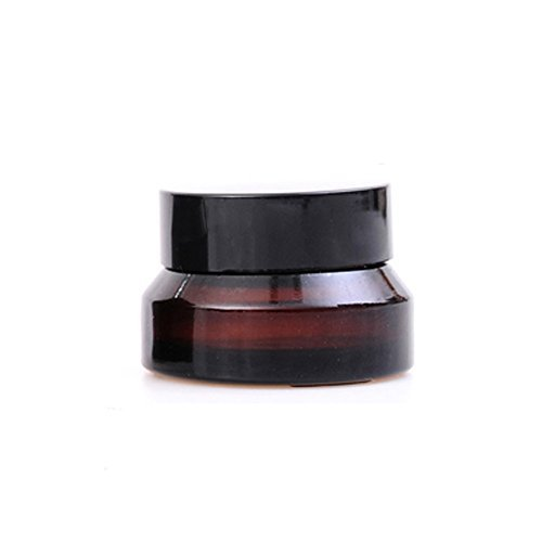 s Empty Refillable Sample Bottle Cosmetic Face Eye Cream Case Ointment Jar Pot Bottle Container Holder with Liners and Cap ()