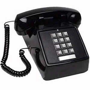 Cortelco (ITT-2500-MD-BK) Single Line Desk Telephone