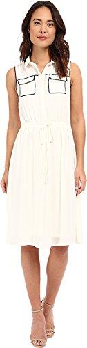 Price comparison product image Brigitte Bailey Women's Kahla Accent Pocket Dress White / Black Dress LG