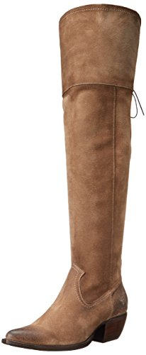 FRYE Women's Sacha Over The Knee Western Boot,  Ash, 7.5 M US by FRYE