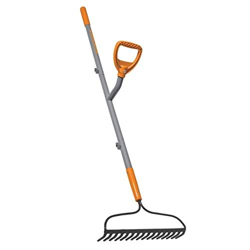 Ergieshovel ERG-BWRK16 16-Tine Strain Reducing 54-Inch Steel Shaft Bow Rake, - Steel Rake