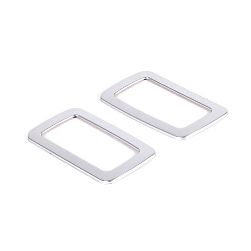 ABS Interior Accessories Rear Back Inner Reading Light Lamp Cover Frame Trim 2pcs For Porsche Macan 2014 2015 2016 (Silver)