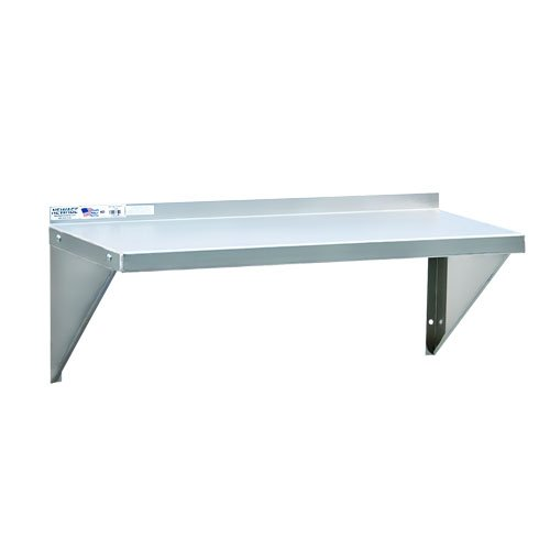 Newage Industrial 95634 Solid Aluminum Wall Shelf, 18'' Diameter x 24'' Length, Heavy Duty, 12 gal by New Age Industrial