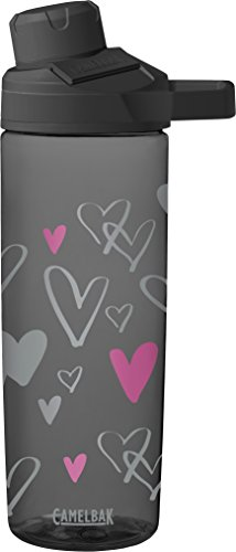 Chute Mag Water Bottle, Sketched Hearts, .6L