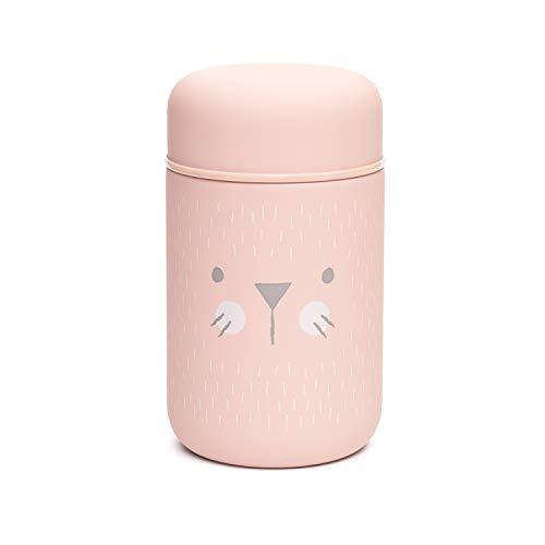 Suavinex - Termo Papillero Para Bebe Acero Inoxidable Cierre Hermetico, 400ml Color Rosa