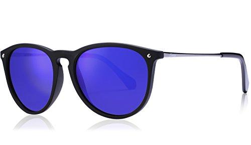 Carfia Vintage Polarized Sunglasses for Women Men, 100% UV400 - Coverage Best Sunglasses Full