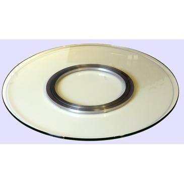 Chintaly 24'' Round Tempered Glass Spinning Tray