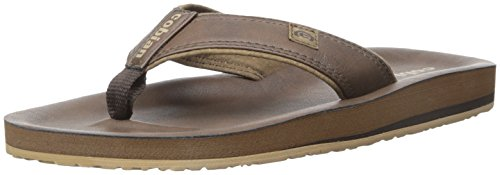cobian Men's The Ranch Flip Flop, Chocolate, 7 UK/7 M US